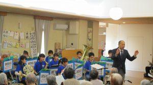 鹿追中学校吹奏楽部の演奏会