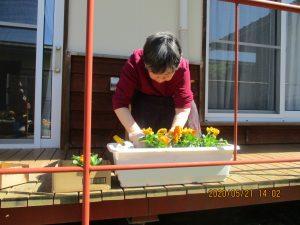 菜園&フラワープランター完成
